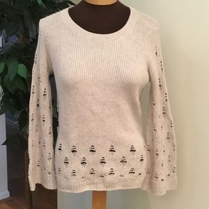 Lucky Brand XS wide sleeve intentional holes top